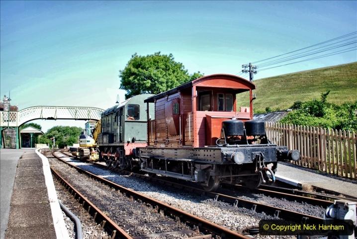 2020-06-23 Swanage Railway still in lockdown. (76) Corfe Castle. 076