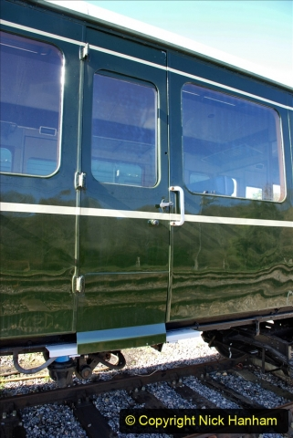2020-03-16 The Swanage Railway. (12) The restored 3 car DMU back on the SR. Guard locking doors now fitted. 012