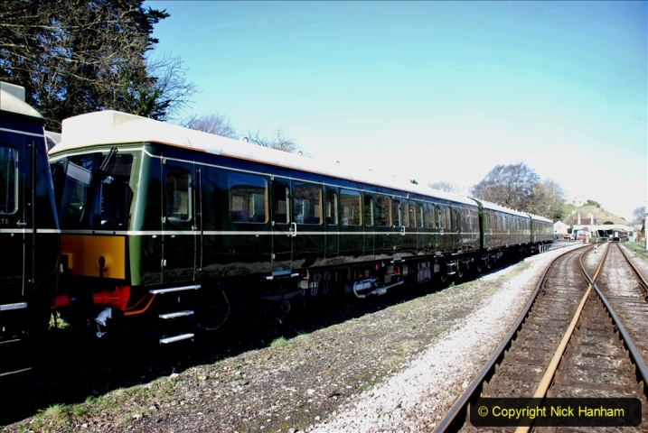 2020-03-16 The Swanage Railway. (7) The restored 3 car DMU back on the SR. 007