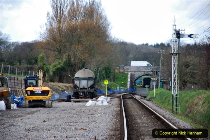 2020-03-16 The Swanage Railway. (76) Herston new Carriage Shed progress. 076
