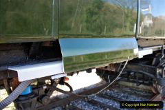 2020-03-16 The Swanage Railway. (13) The restored 3 car DMU back on the SR. Guard locking doors now fitted. 013