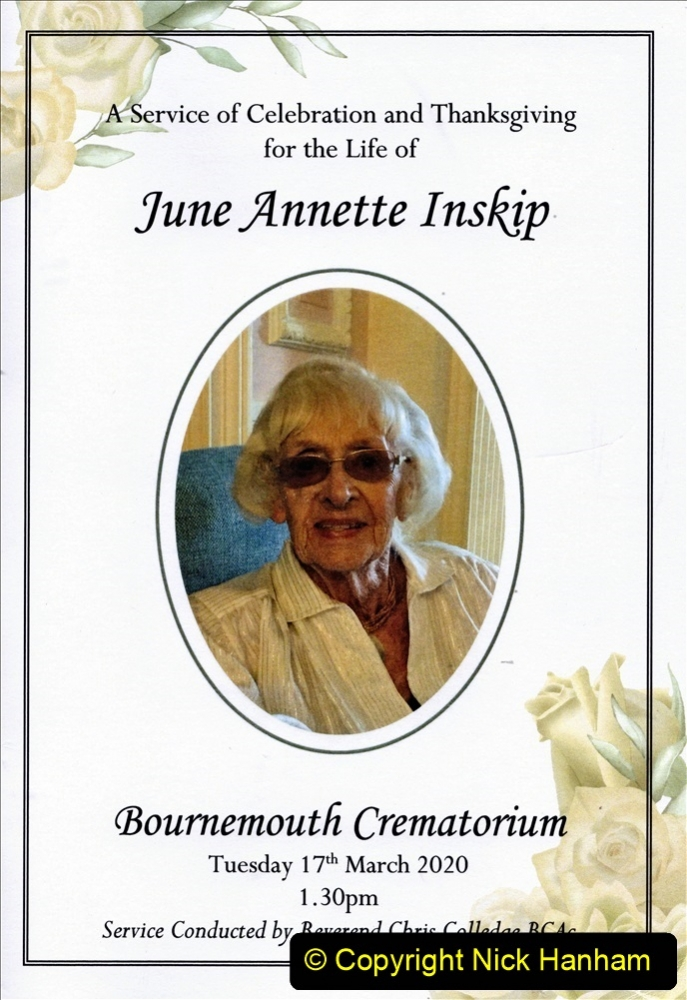 The very sad passing of June Inskip