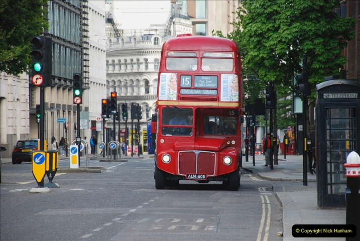 2019-05-12 Touring Central London Day 1. (208) Routemaster ride. 208