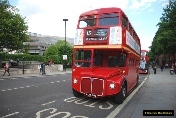 2019-05-12 Touring Central London Day 1. (209) Routemaster ride. 209