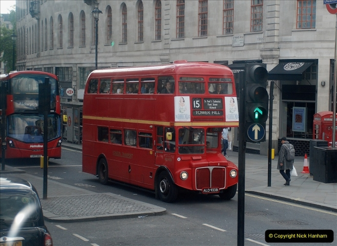 2019-05-12 Touring Central London Day 1. (214) Routemaster ride. 214