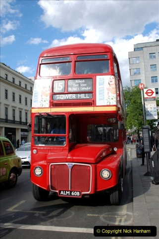 2019-05-12 Touring Central London Day 1. (217) Routemaster ride. 217