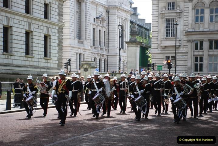 2019-05-12 Touring Central London Day 1. (45) Royal Marines Vetrans Parade. 045