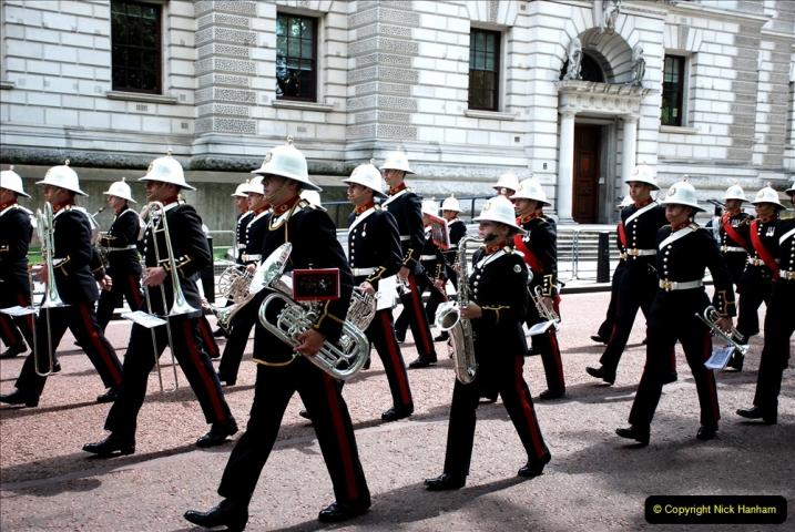 2019-05-12 Touring Central London Day 1. (48) Royal Marines Vetrans Parade. 048