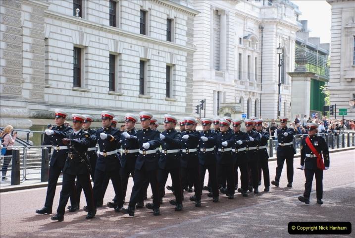 2019-05-12 Touring Central London Day 1. (49) Royal Marines Vetrans Parade. 049