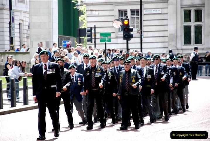 2019-05-12 Touring Central London Day 1. (53) Royal Marines Vetrans Parade. 053
