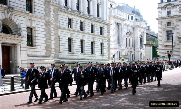 2019-05-12 Touring Central London Day 1. (54) Royal Marines Vetrans Parade. 054