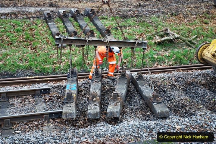 2020-01-06 Track renewal Cowpat Crossing to just beyond Dickers Crossing. (104) 104