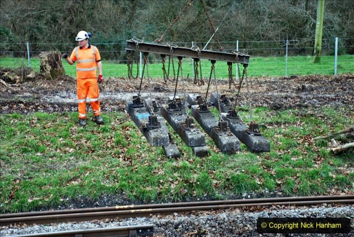 2020-01-06 Track renewal Cowpat Crossing to just beyond Dickers Crossing. (105) 105
