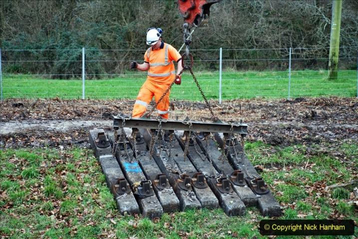 2020-01-06 Track renewal Cowpat Crossing to just beyond Dickers Crossing. (107) 107