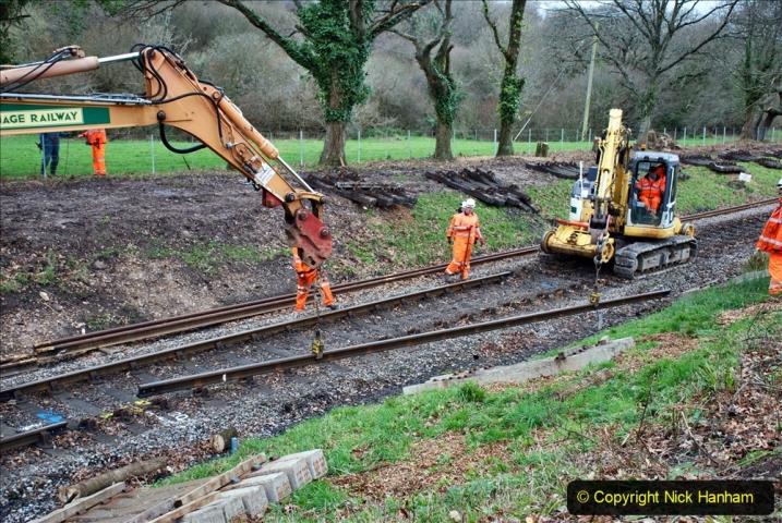 2020-01-06 Track renewal Cowpat Crossing to just beyond Dickers Crossing. (119) 119
