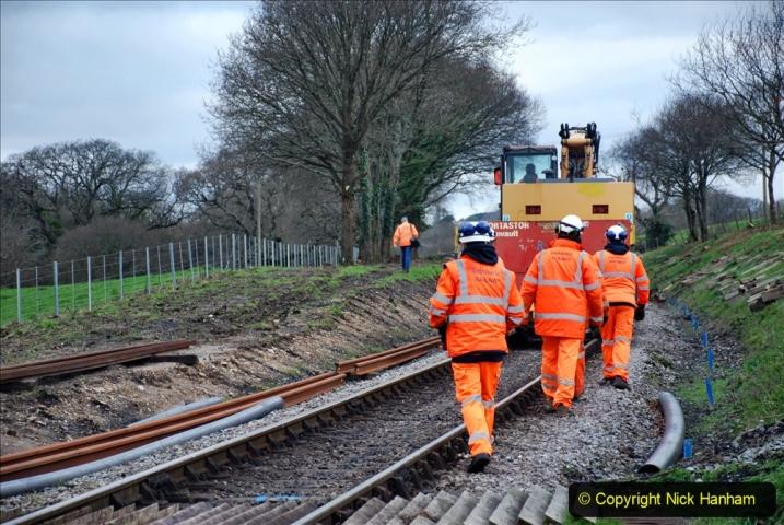 2020-01-06 Track renewal Cowpat Crossing to just beyond Dickers Crossing. (12) 012