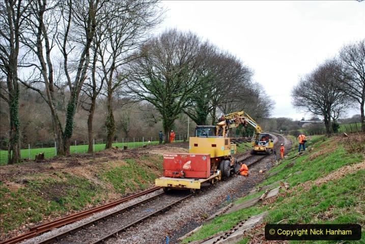 2020-01-06 Track renewal Cowpat Crossing to just beyond Dickers Crossing. (122) 122