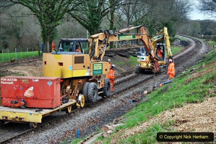 2020-01-06 Track renewal Cowpat Crossing to just beyond Dickers Crossing. (125) 125