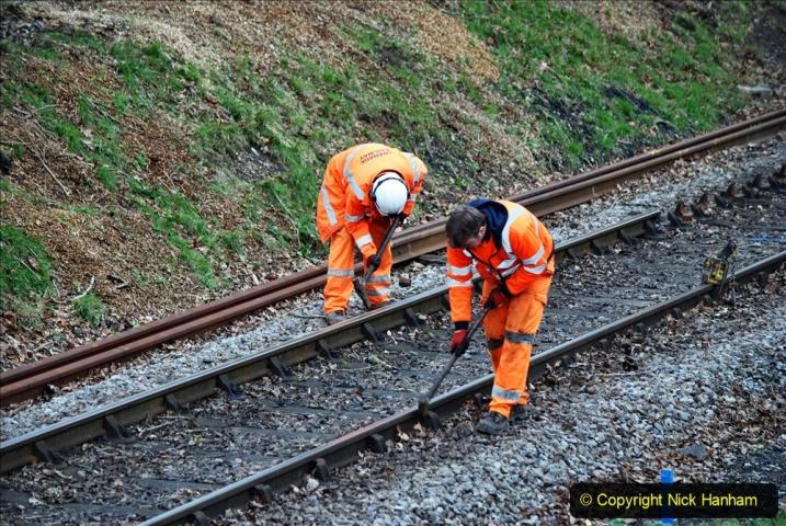 2020-01-06 Track renewal Cowpat Crossing to just beyond Dickers Crossing. (128) 128