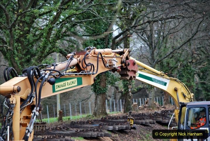 2020-01-06 Track renewal Cowpat Crossing to just beyond Dickers Crossing. (129) 129