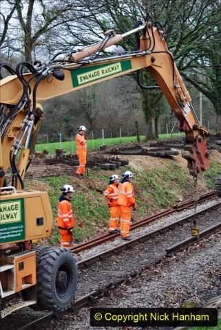 2020-01-06 Track renewal Cowpat Crossing to just beyond Dickers Crossing. (130) 130
