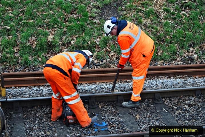 2020-01-06 Track renewal Cowpat Crossing to just beyond Dickers Crossing. (132) 132