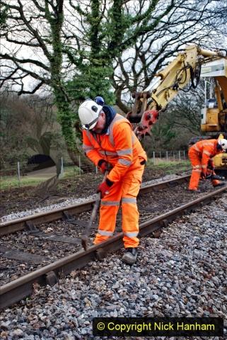 2020-01-06 Track renewal Cowpat Crossing to just beyond Dickers Crossing. (16) 016