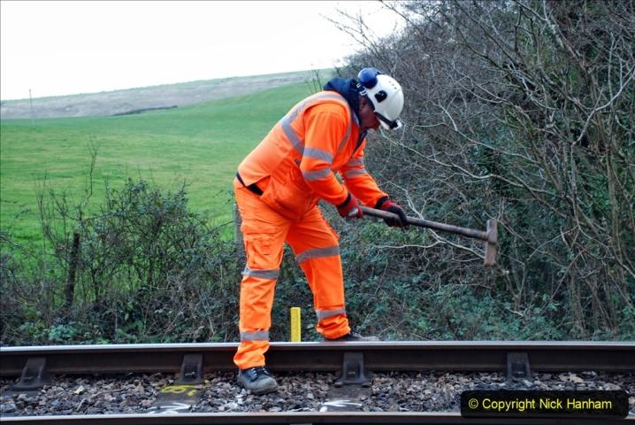 2020-01-06 Track renewal Cowpat Crossing to just beyond Dickers Crossing. (18) 018