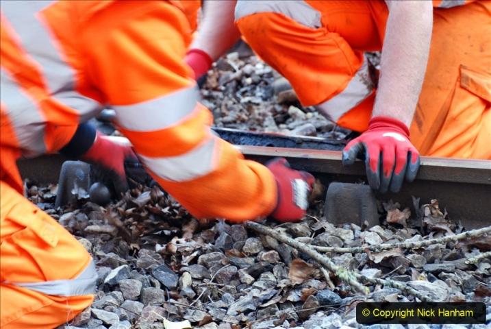 2020-01-06 Track renewal Cowpat Crossing to just beyond Dickers Crossing. (23) 023