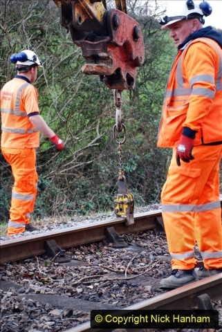 2020-01-06 Track renewal Cowpat Crossing to just beyond Dickers Crossing. (27) 027