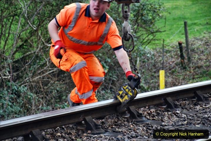 2020-01-06 Track renewal Cowpat Crossing to just beyond Dickers Crossing. (31) 031