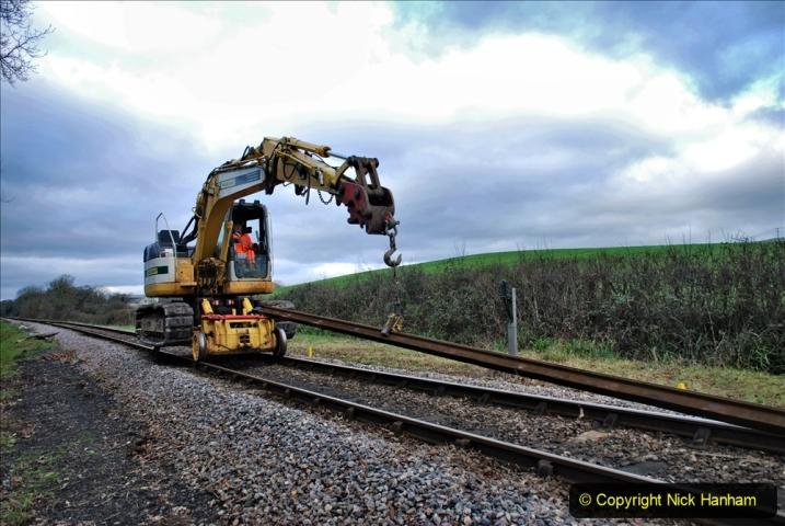 2020-01-06 Track renewal Cowpat Crossing to just beyond Dickers Crossing. (34) 034