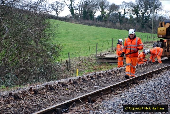 2020-01-06 Track renewal Cowpat Crossing to just beyond Dickers Crossing. (35) 035
