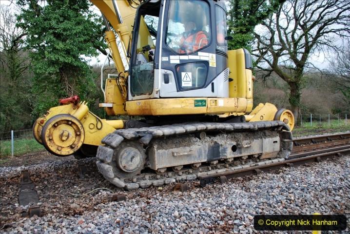 2020-01-06 Track renewal Cowpat Crossing to just beyond Dickers Crossing. (42) 042