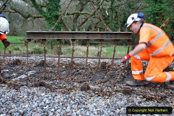 2020-01-06 Track renewal Cowpat Crossing to just beyond Dickers Crossing. (45) 045