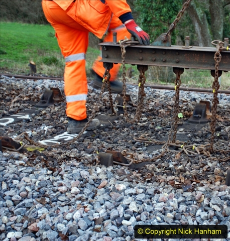 2020-01-06 Track renewal Cowpat Crossing to just beyond Dickers Crossing. (46) 046