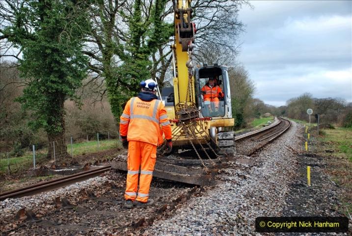 2020-01-06 Track renewal Cowpat Crossing to just beyond Dickers Crossing. (54) 054