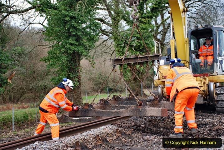 2020-01-06 Track renewal Cowpat Crossing to just beyond Dickers Crossing. (55) 055