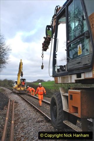 2020-01-06 Track renewal Cowpat Crossing to just beyond Dickers Crossing. (59) 059