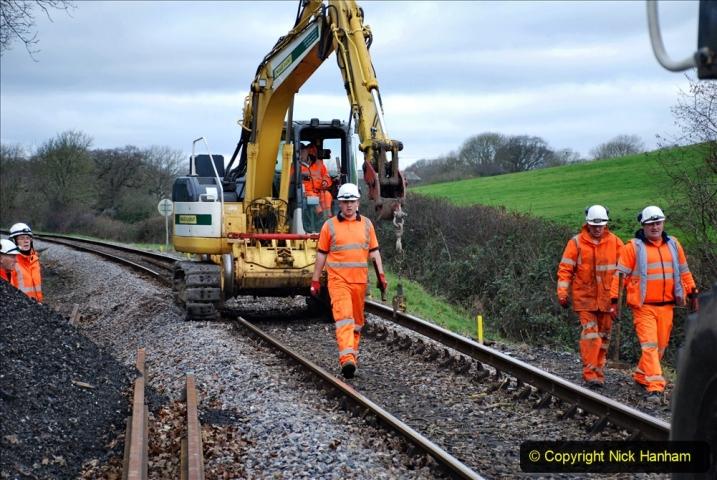 2020-01-06 Track renewal Cowpat Crossing to just beyond Dickers Crossing. (60) 060