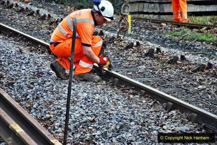 2020-01-06 Track renewal Cowpat Crossing to just beyond Dickers Crossing. (62) 062