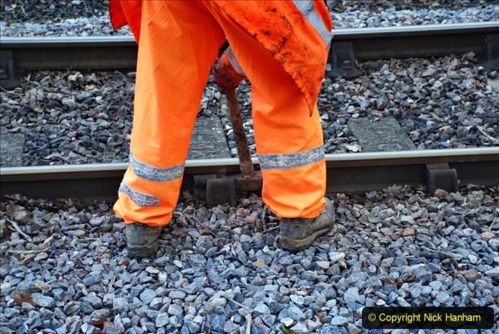 2020-01-06 Track renewal Cowpat Crossing to just beyond Dickers Crossing. (66) 066