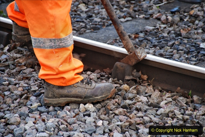 2020-01-06 Track renewal Cowpat Crossing to just beyond Dickers Crossing. (69) 069