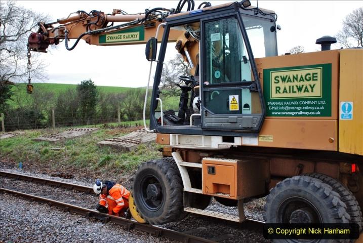2020-01-06 Track renewal Cowpat Crossing to just beyond Dickers Crossing. (72) 072