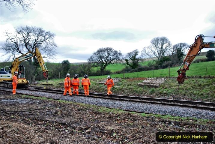 2020-01-06 Track renewal Cowpat Crossing to just beyond Dickers Crossing. (74) 074