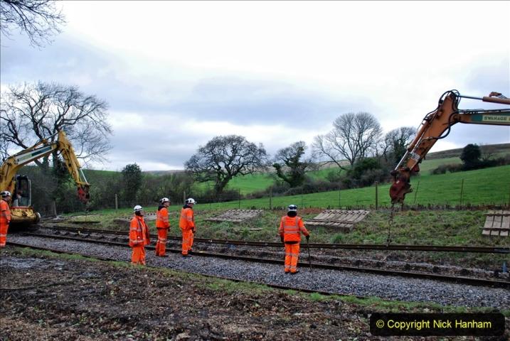 2020-01-06 Track renewal Cowpat Crossing to just beyond Dickers Crossing. (75) 075