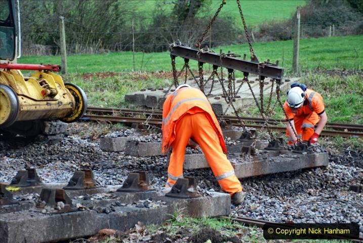 2020-01-06 Track renewal Cowpat Crossing to just beyond Dickers Crossing. (80) 080