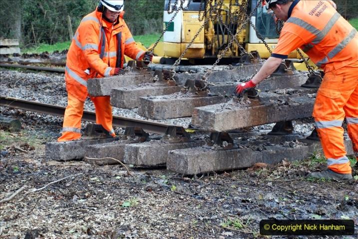2020-01-06 Track renewal Cowpat Crossing to just beyond Dickers Crossing. (81) 081