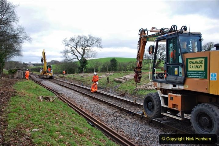 2020-01-06 Track renewal Cowpat Crossing to just beyond Dickers Crossing. (83) 083