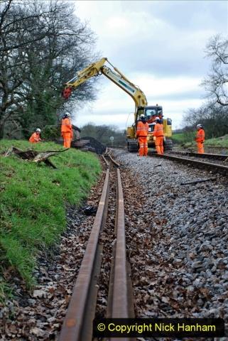 2020-01-06 Track renewal Cowpat Crossing to just beyond Dickers Crossing. (87) 087